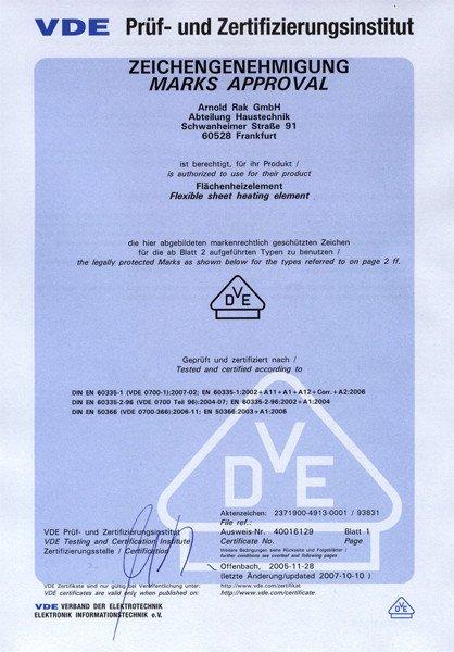 Arnold Rak сертификат 1